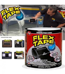"Flex Tape Strong Rubberized Waterproof Tape, 4"" x 5' - Black - TUZZUT Qatar Online Store"