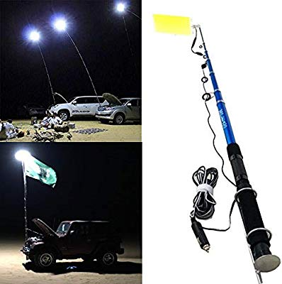 360° Light Multifunction Outdoor LED Fishing Rod Light 5M Camping Lantern Lamp with IR Remote 3 Modes 800W - TUZZUT Qatar Online Store
