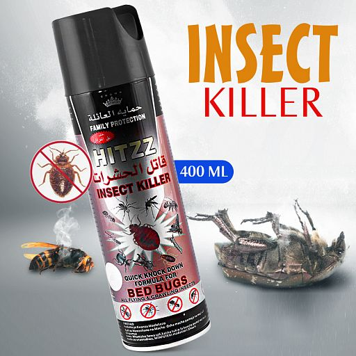 Hitzz Insect Killer Formula For Bed Bugs & Flying & Crawling Insects 400ML - TUZZUT Qatar Online Store