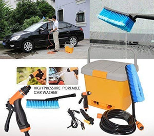 Portable 12V DC Car Washer Pump Bucket Car Washer | Car Wash Kit | Car Wash Machine for Garden/Car/Bike/Pet Wash