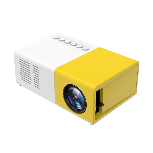 Mini Portable LED Projector Support 1080p AV, USB, SD card
