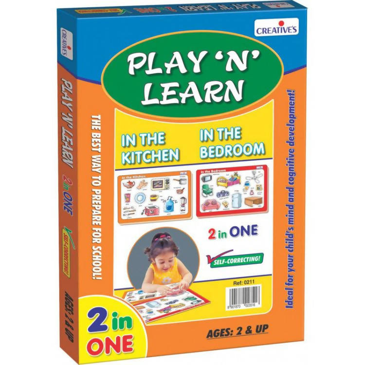Play 'N' Learn 2 in 1-In the Kitchen & In the Bedroom - TUZZUT Qatar Online Store