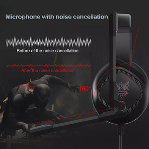 ONIKUMA K19 3.5mm Jack Stereo Gaming Headset Headphone for PS4 NewXbox One PC Tablet Laptop with Mic LED Light - TUZZUT Qatar Online Store