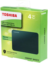 Load image into Gallery viewer, Toshiba Canvio Basics 4TB Portable External Hard Drive USB 3.0, Black - TUZZUT Qatar Online Store
