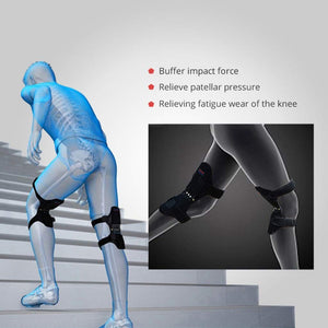 1 Pair Power Lift Joint Support Knee Pads Breathable Non-slip Powerful Rebound Force Knee booster Joint Support Knee Pads - TUZZUT Qatar Online Store