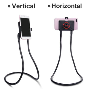 Lazy Hang Neck Phone Support Holder, Multi-function Creative Mobile Phone Holder Desktop Bed Car Lazy Bracket Mobile Stand