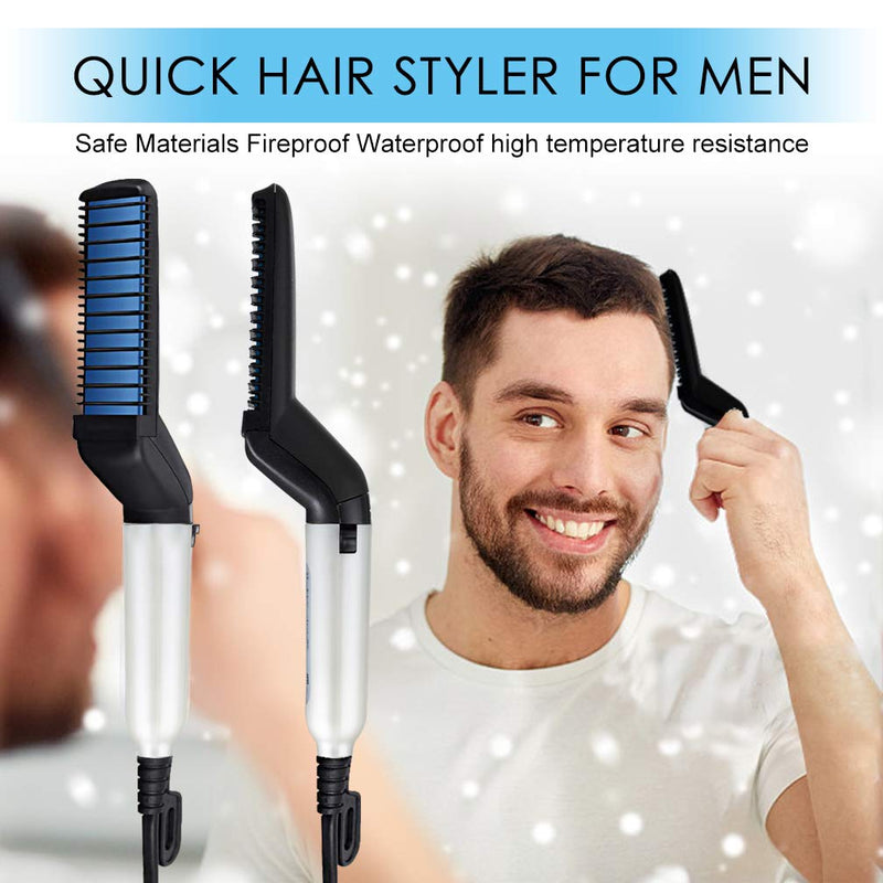 Modelling Comb - Men Beard Straightener and Quick Hair Styler Hair Comb - TUZZUT Qatar Online Store
