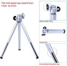 Load image into Gallery viewer, Cell Phone Camera Lens 18X Telephoto Lens with Tripod and Clip for iPhone Samsung Most Smartphones (Silver) - TUZZUT Qatar Online Store