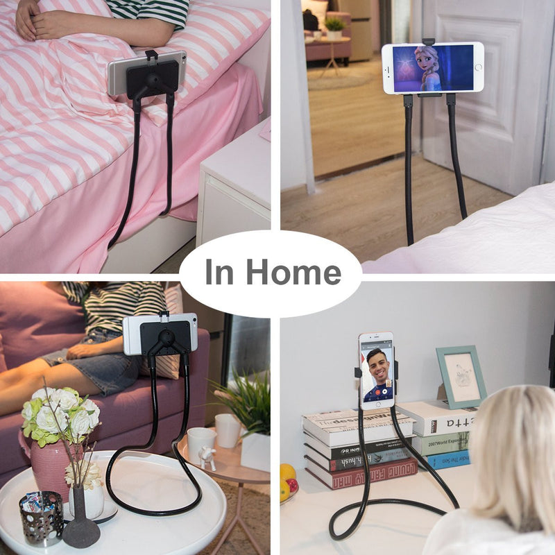 Lazy Hang Neck Phone Support Holder, Multi-function Creative Mobile Phone Holder Desktop Bed Car Lazy Bracket Mobile Stand - TUZZUT Qatar Online Store