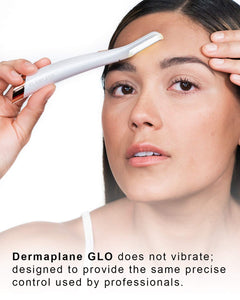 Finishing Touch Flawless Dermaplane Glo Lighted Facial Dermaplaning and Hair Remover Tool - Non-Vibrating and Includes 6 Replacement Heads