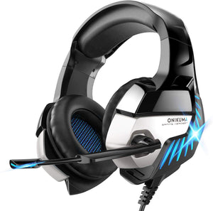 ONIKUMA K5 Pro Stereo Gaming Headset Over-ear Headphones with MIC LED Light - TUZZUT Qatar Online Store