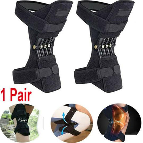 1 Pair Power Lift Joint Support Knee Pads Breathable Non-slip Powerful Rebound Force Knee booster Joint Support Knee Pads