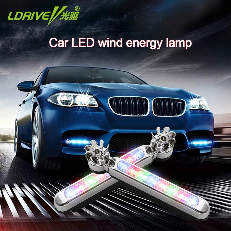 2Pcs Wind Energy 8 LED Running Lights for Cars Bikes - TUZZUT Qatar Online Store