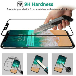 5D Premium 9H Hardness Tempered Glass Screen Protector for iPhone Mobiles - TUZZUT Qatar Online Store
