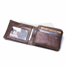 Load image into Gallery viewer, Men's Genuine Leather Cowhide Trifold Wallet (Model No. GMW009) - TUZZUT Qatar Online Store