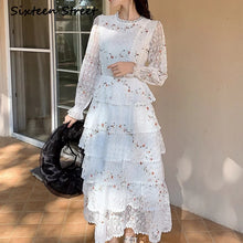 Load image into Gallery viewer, Women's Long-Sleeve Floral Embroidery Elegant Party Maxi Dress - TUZZUT Qatar Online Store