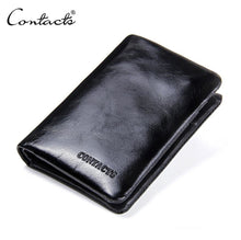 Load image into Gallery viewer, Genuine Leather Cowhide Bifold Classic Pocket Wallet for men -Black