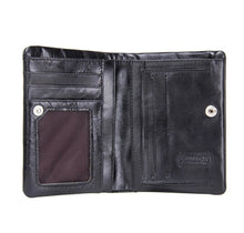 Load image into Gallery viewer, Genuine Leather Cowhide Bifold Classic Pocket Wallet for men -Black - TUZZUT Qatar Online Store
