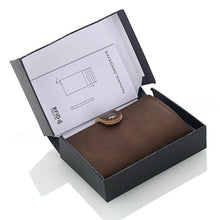 Load image into Gallery viewer, Leather RFID Aluminum Credit Card Holder (automatic Pop Up)- Small Card Case Wallet - TUZZUT Qatar Online Store