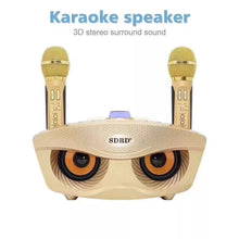 Load image into Gallery viewer, SDRD SD 306 Portable Family Karaoke System Two Wireless Microphones With 20w Stereo Bluetooth Speaker Condenser Karaoke Microphone - TUZZUT Qatar Online Store