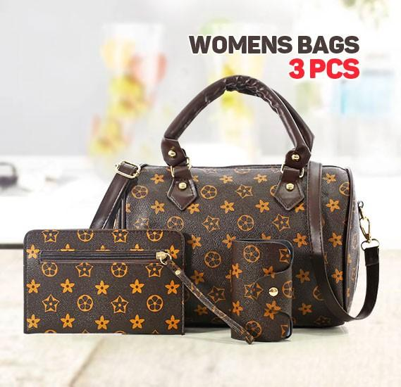 Generic Luxury Print Womens Star Design Shoulder Bag Set of 3 Pieces, Brown - TUZZUT Qatar Online Store