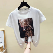 Load image into Gallery viewer, Women's Korean Style O-Neck Summer Short Sleeve Tops T-Shirt - TUZZUT Qatar Online Store