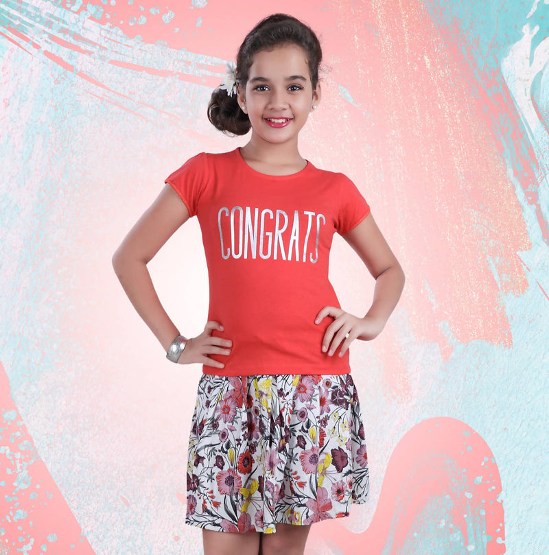Girls Top and Skirt Set - TUZZUT Qatar Online Store