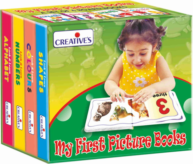 My First Picture Books ( A set Of 4 Board Books) - TUZZUT Qatar Online Store