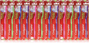 Colgate Toothbrush Double Action, Medium (Pack of 12) - TUZZUT Qatar Online Store