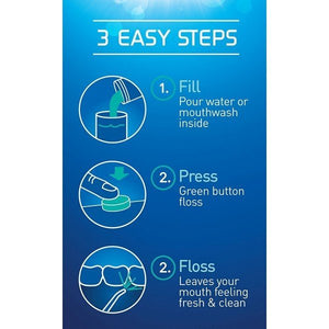 Power Floss Dental Water Jet, Oral Irrigator-for Quick and Easy Dental