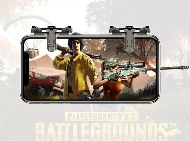 1 Pair PUBG Mobile Game Controller Metal Trigger