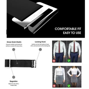 ShirtStays Adjustable Tuck It Belt Shirt Holder for Men and Women (2 Pcs) - TUZZUT Qatar Online Store