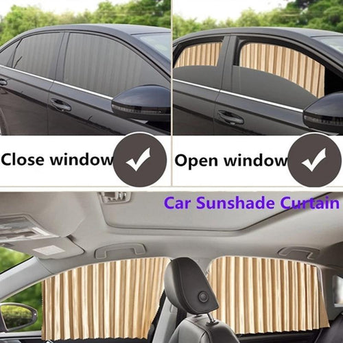 2 Pair Universal Sunshade UV Sunshade Magnetic installation Visor Window Car Curtain - TUZZUT Qatar Online Store