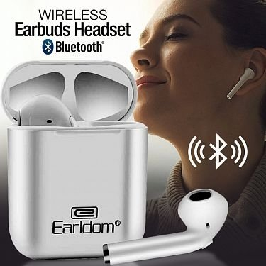 Earldom Wireless 5.0 BT Version Bluetooth Earbuds Headset, ET-BH16 - TUZZUT Qatar Online Store