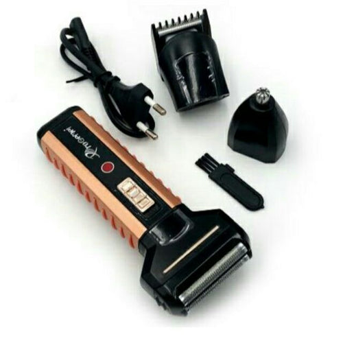ProGemei GM-789 Rechargeable Cordless Razor Trimmer Hair Clipper Shaver 3 in 1