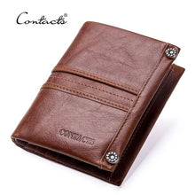 Load image into Gallery viewer, Top Quality Genuine Leather Zipper Pocket Card Holder Short Wallet For Men and Women - (M1245) - TUZZUT Qatar Online Store