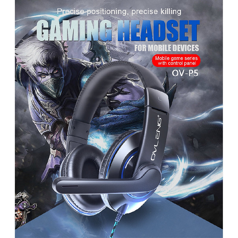 OVLENG OV-P5 Gaming Headset for PS4 Mobile Laptop with 3.5mm Jack - TUZZUT Qatar Online Store