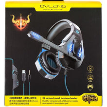 Load image into Gallery viewer, OVLENG GT93 Stereo Gaming Headset Over-ear Headphones with MIC LED Light - TUZZUT Qatar Online Store