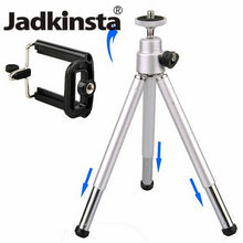 Load image into Gallery viewer, Small Travel Extendable Mini Mobile Tripod Stand with Phone Holder