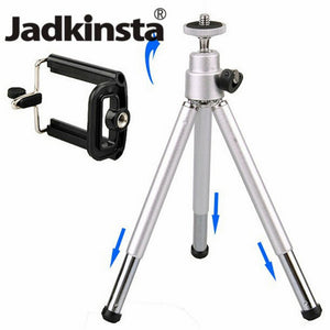 Small Travel Extendable Mini Mobile Tripod Stand with Phone Holder