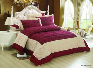 6pc Set Comforter Double King Size - Buston 9-1515 - TUZZUT Qatar Online Store