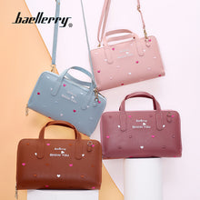 Load image into Gallery viewer, Baellerry Women New Design Korean Style PU Leather Flower Embroidery Handbag - ZX-N1902