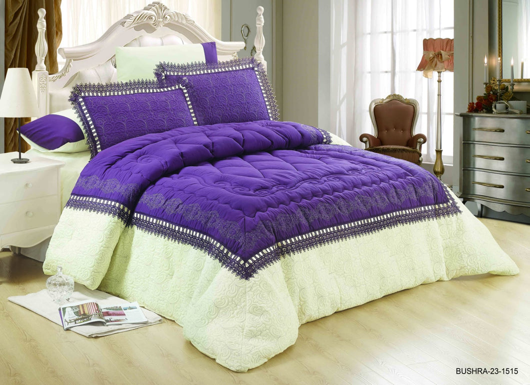 6pc Set Comforter Double King Size - Bushra 23-1515 - TUZZUT Qatar Online Store