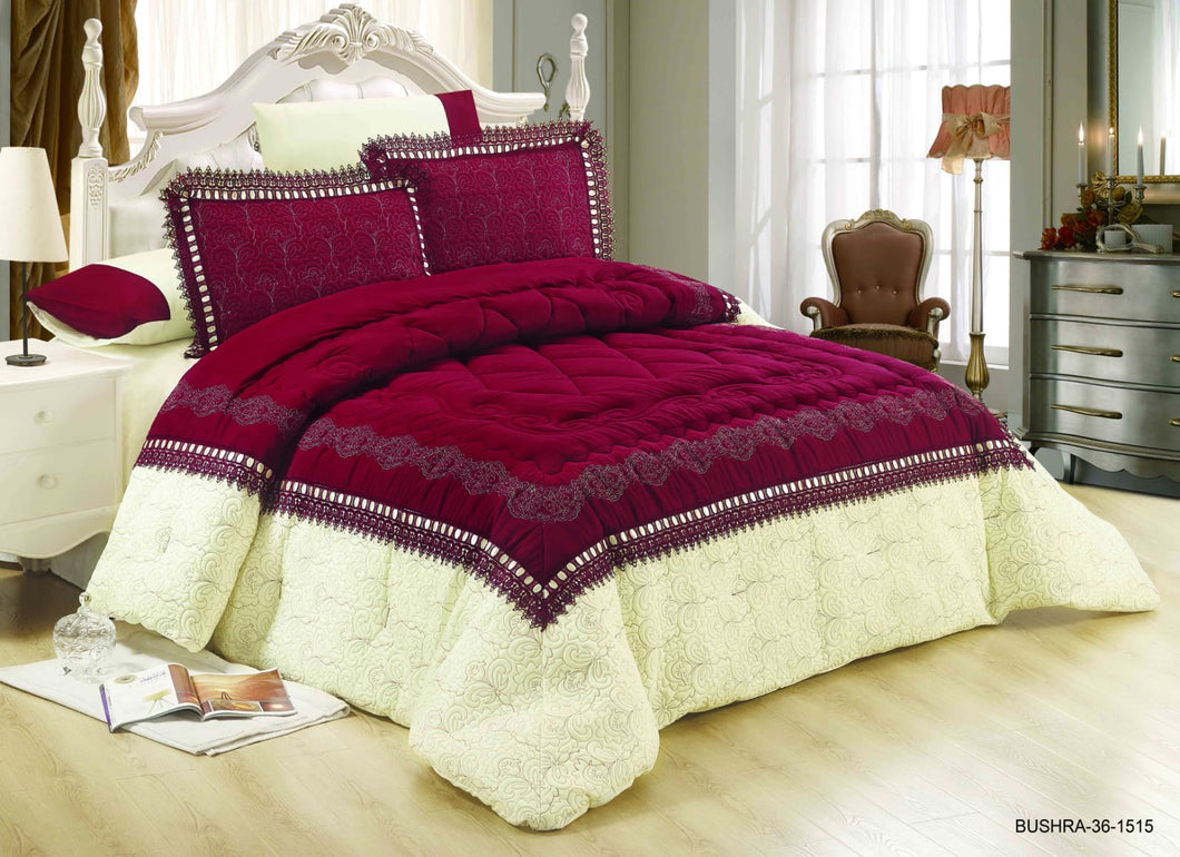 6pc Set Comforter Double King Size - Bushra 36-1515 - TUZZUT Qatar Online Store