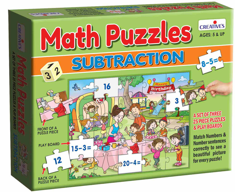 Math Puzzles- Subtraction - TUZZUT Qatar Online Store