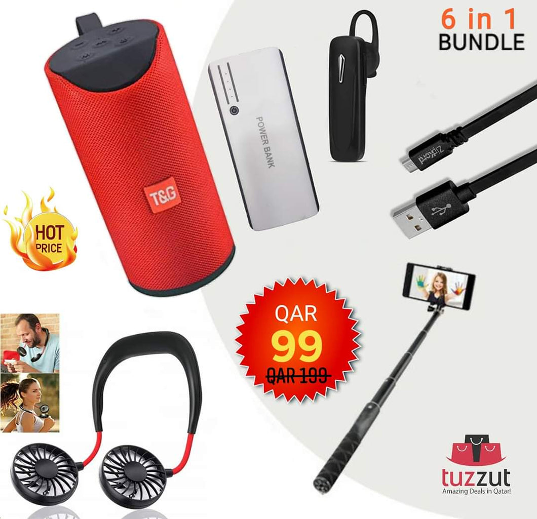 6 in 1 Super Smart Combo (Assorted Colours) - TUZZUT Qatar Online Store