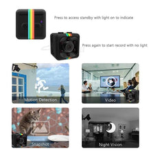 Load image into Gallery viewer, Mini Camera SQ11 HD 1080P Camcorder Sports Mini DV Video Recorder Spy Cameras with Night Vision & Motion Detection Security Camera - TUZZUT Qatar Online Store