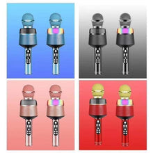 Load image into Gallery viewer, Q008 Portable Bluetooth Karaoke Wireless Microphone with Flashing Lights