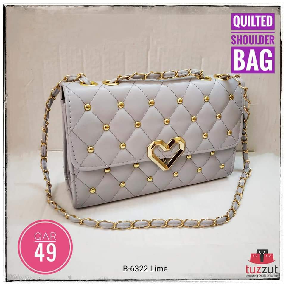 Quilted Shoulder Bag for Women B-6322