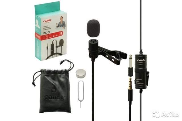 Candc DC-C1 Lavalier Microphone Micro- Cravate Clip-On Mic for Smartphones, DSLR, Camcorders, Audio recorders, PC - TUZZUT Qatar Online Store